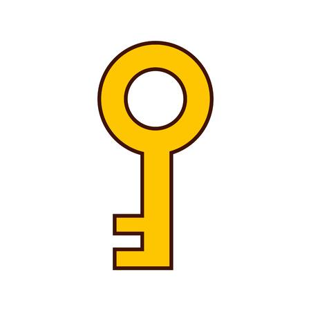 Progettazione dell'illustrazione di vettore dell'icona isolata chiave antica Archivio Fotografico - 82186061