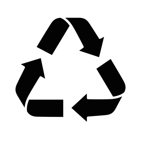 recycle sign icon over white background vector illustration