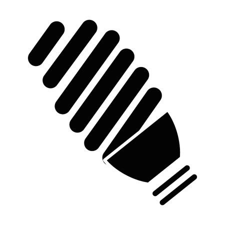 Gloeilamp pictogram op witte achtergrond vector illustratie
