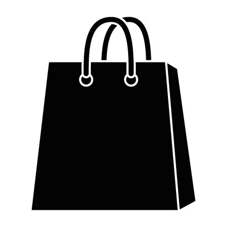 흰색 배경 벡터 일러스트 레이 션 위에 쇼핑 가방 아이콘