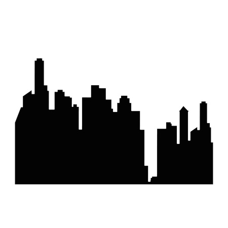 city buildings icon over white background vector illustration Иллюстрация