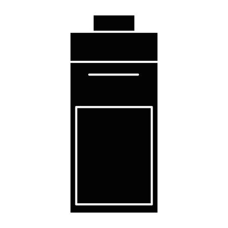 Icône de batterie sur fond blanc illustration vectorielle Banque d'images - 82189156