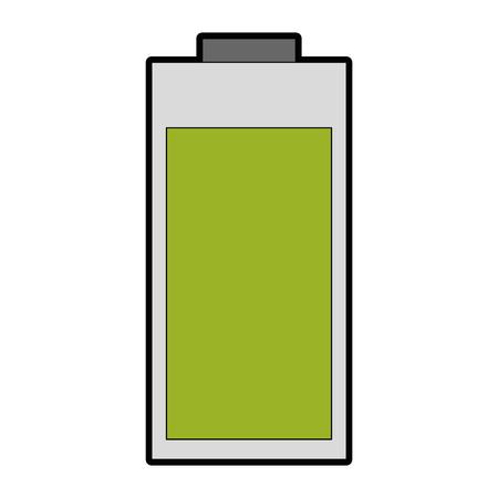 Icône de batterie sur fond blanc illustration vectorielle Banque d'images - 82190923