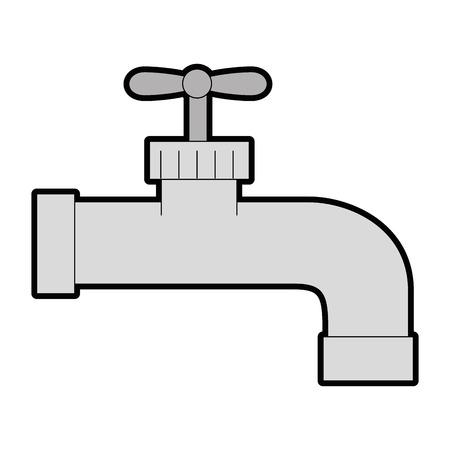白背景ベクトル イラスト上の水蛇口アイコン