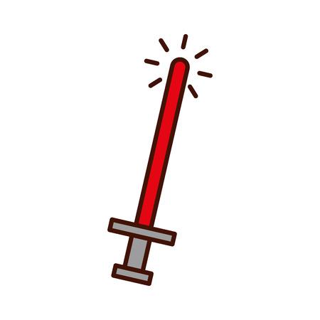 sword weapon warrior game vector illustration design