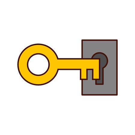 Progettazione dell'illustrazione di vettore dell'icona isolata chiave antica Archivio Fotografico - 82199914