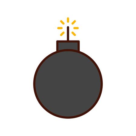 Explosivo choque aislado icono de ilustración vectorial de diseño Foto de archivo - 82200385