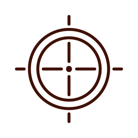 target weapon isolated icon vector illustration design