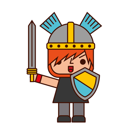 Avatar of a video game warrior with sword vector illustration design Reklamní fotografie - 82200405