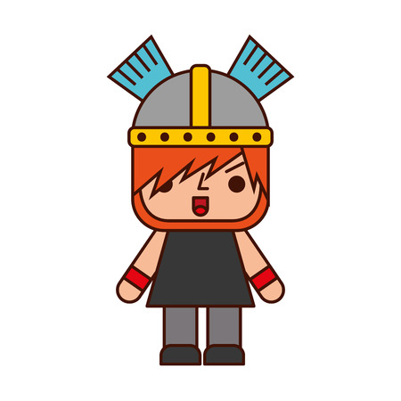 Avatar of a video game warrior vector illustration design Ilustração