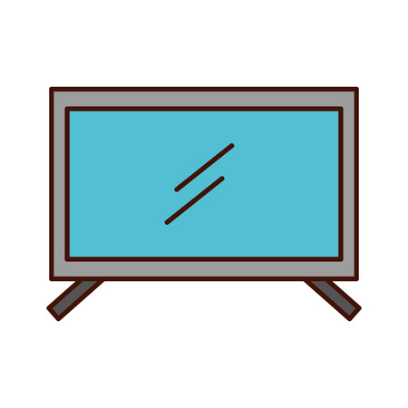 plasma tv isolated icon vector illustration design Banco de Imagens - 82200400