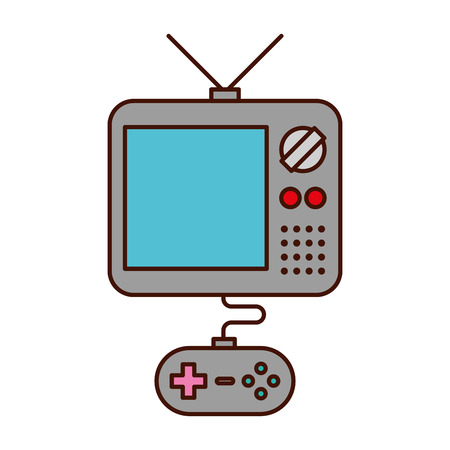 tv with video game control icon vector illustration design
