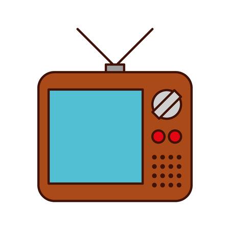 oude tv geïsoleerd pictogram vector illustratie ontwerp