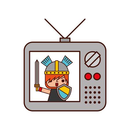old tv with video game vector illustration design Reklamní fotografie - 82200421