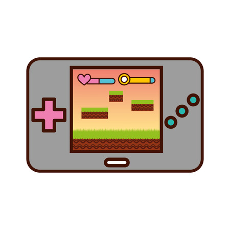 Portable video game console vector illustration design Imagens - 82200440