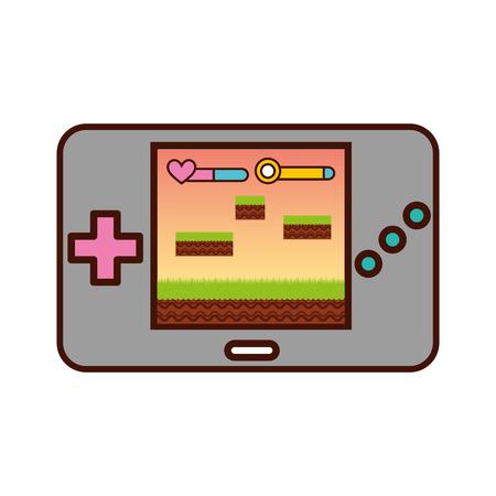 Portable video game console vector illustration design