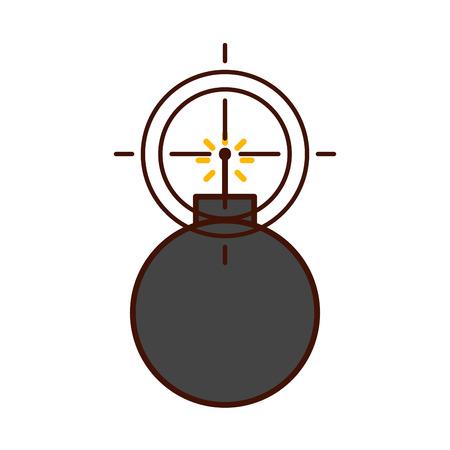 explosive boom with target vector illustration design Illustration