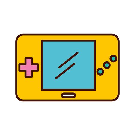 ポータブル ビデオ ゲーム コンソール ベクトル イラスト デザイン