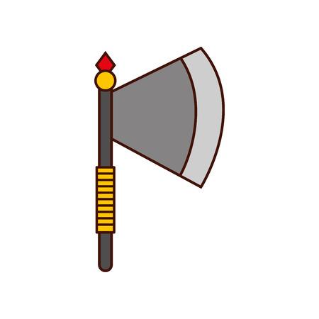ax weapon warrior game vector illustration design Illustration