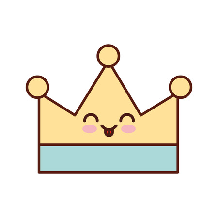 queen crown isolated character vector illustration design