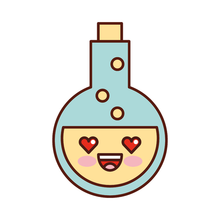 tube test with potion character vector illustration design