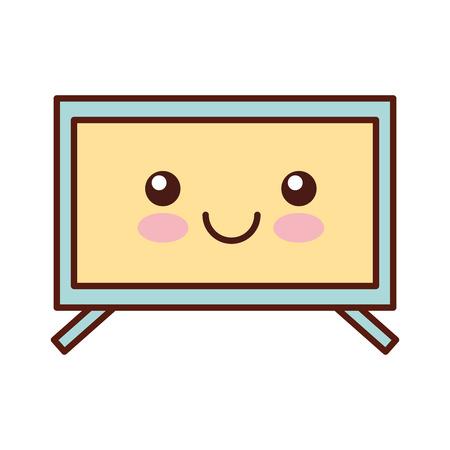 plasma tv character vector illustration design