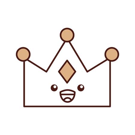 queen crown isolated character vector illustration design Stock Vector - 82229692