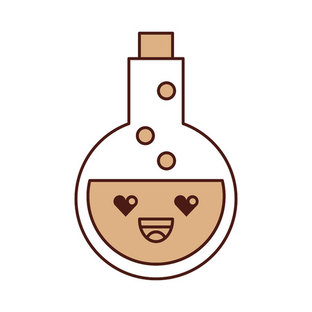 bubble acid: tube test with potion character vector illustration design