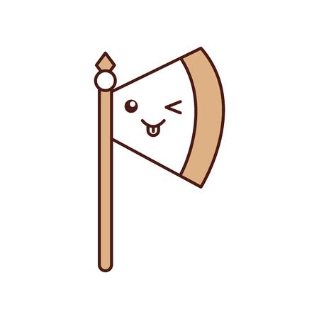 斧武器戦士ゲーム文字ベクトル イラスト デザイン