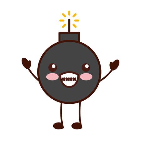 explosive boom character vector illustration design Illustration