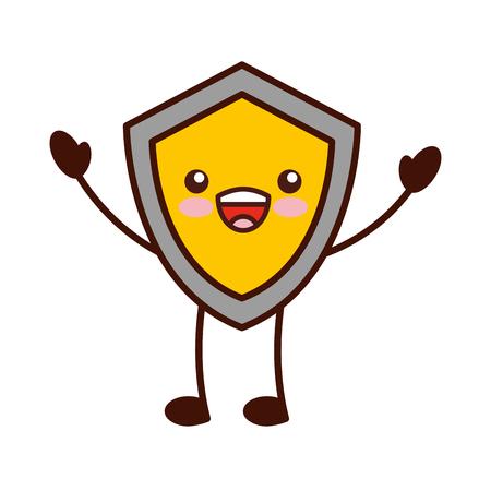 shield guard character vector illustration design Illustration