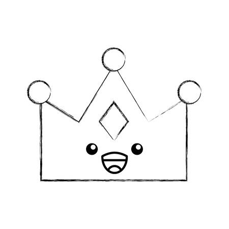queen crown isolated character vector illustration design Imagens - 82230439