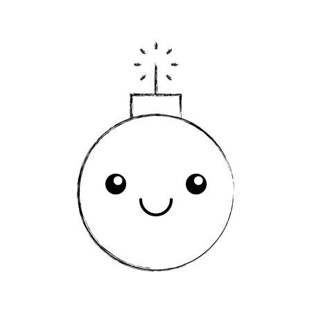 explosieve boom karakter vector illustratie ontwerp