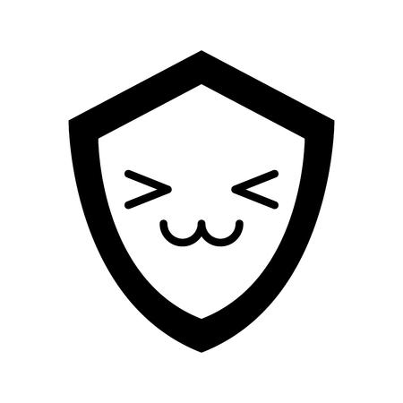 quality guarantee: shield guard character vector illustration design Illustration