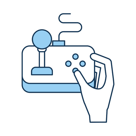 gamepad: hands with video game control icon vector illustration design