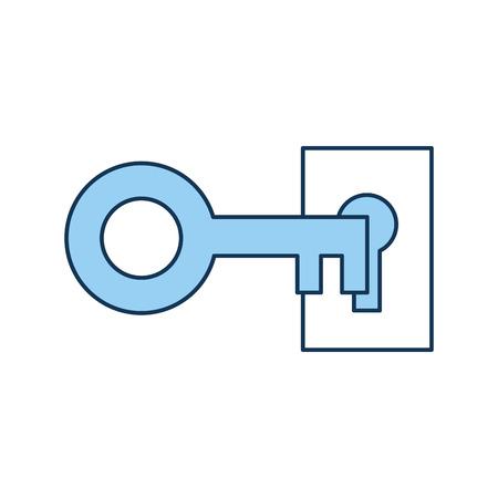 Progettazione dell'illustrazione di vettore dell'icona isolata chiave antica Archivio Fotografico - 82229677