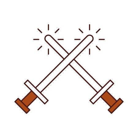 剣武器戦士ゲーム ベクトル イラスト デザイン