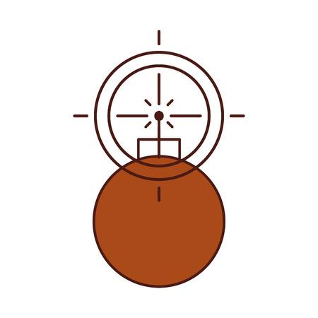 Explosieve boom met doel vector illustratie ontwerp
