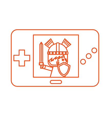 gamepad: Portable video game console vector illustration design