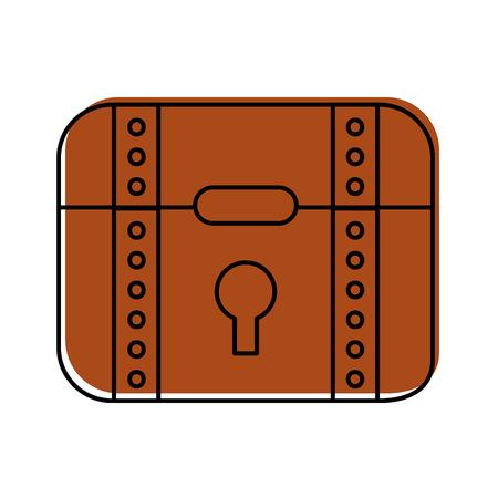 crack: treasure chest game icon vector illustration design Illustration