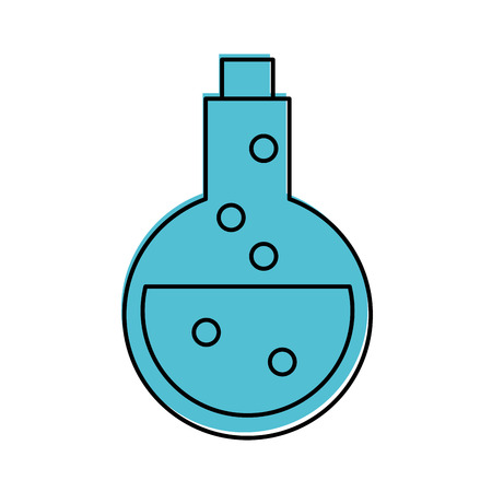tube test with potion vector illustration design