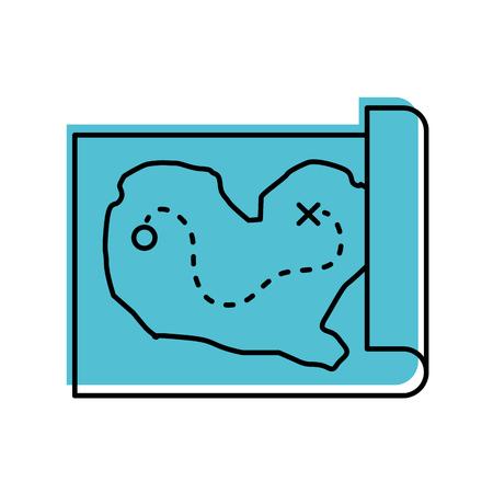 treasure map game icon vector illustration design Illustration