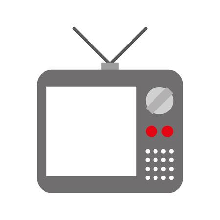 오래 된 tv 격리 아이콘 벡터 일러스트 레이 션 디자인 일러스트