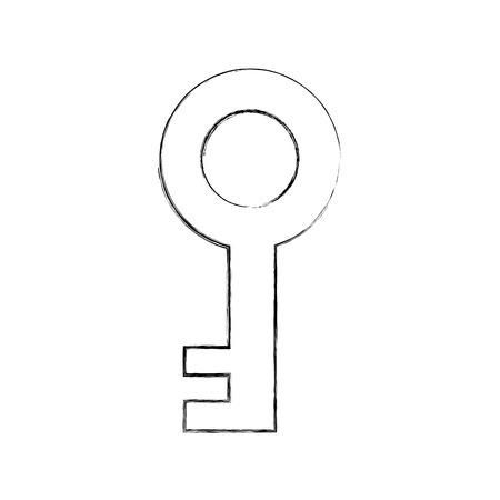 antique key isolated icon vector illustration design