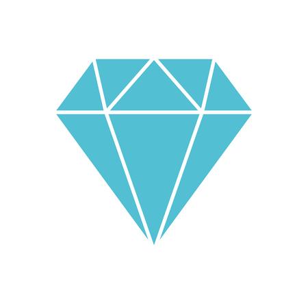 Diamant figuur geïsoleerd pictogram vector illustratie ontwerp