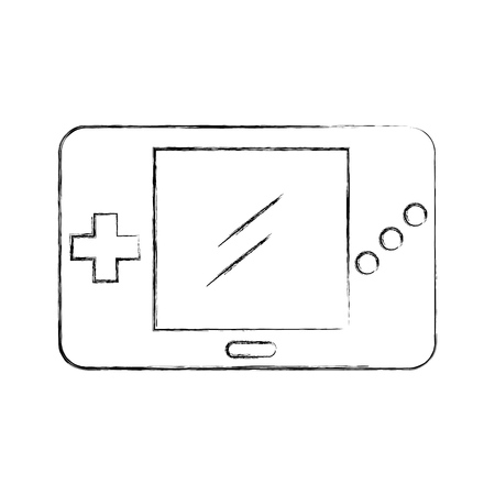 Portable video game console vector illustration design