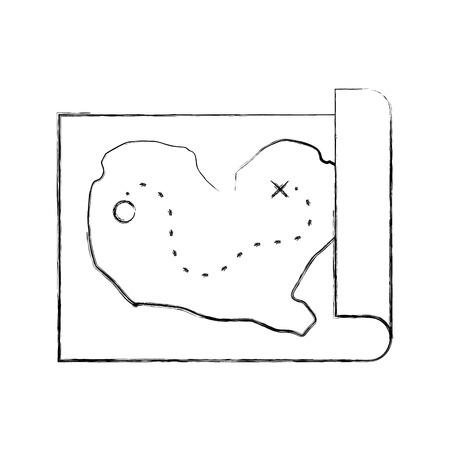 treasure map game icon vector illustration design Ilustração