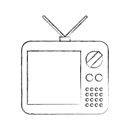 old tv isolated icon vector illustration design 版權商用圖片 - 82230057