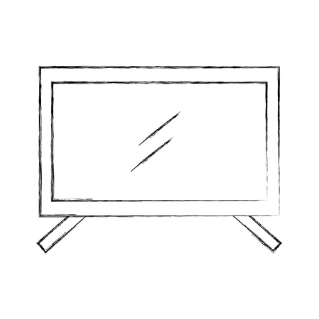 plasma tv isolated icon vector illustration design Illustration
