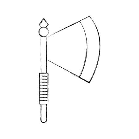斧武器戦士ゲーム ベクトル イラスト デザイン